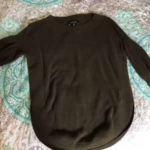 Express olive green sweater
